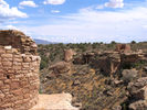 Pueblo tower and other ruins