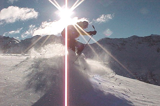 Skier in the Sun